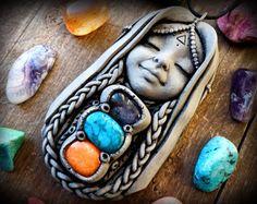 Madre hija joyería diosa colgante regalo de embarazo por anainc