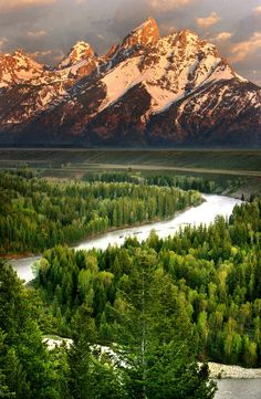 Tetons  Wyoming...when you first see them in the distance you cannot believe they are real......
