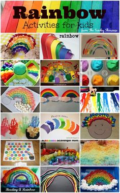 Rainbow activities: 20 fun and colorful RAINBOW activities & crafts for kids.