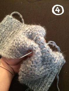 DIY Tuto knit headband and mittens hyper easy particular debu Fingerless Gloves Knitted, Knit Mittens, Knitted Hats, Crochet Hats, Headband Tutorial, Diy Headband, Headbands, Knit Headband Pattern, Knitted Headband