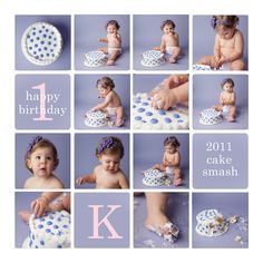 cake smash awesome I have this collage template too!