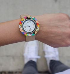 What time is it? Time to replace your standard timepiece with a hand-painted wristwatch.