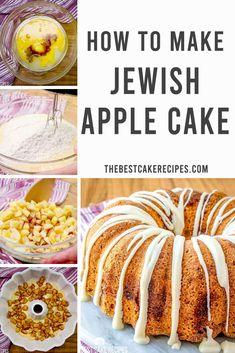 Jewish Apple Cake Recipe {Fresh Apple Bundt Cake with Sugar Glaze} Apple Bunt Cake, Apple Bundt Cake Recipes, German Apple Cake, Pound Cake Recipes, Homemade Pound Cake, Homemade Cake Recipes, Best Cake Recipes, Orange Juice Cake, Jewish Apple Cakes