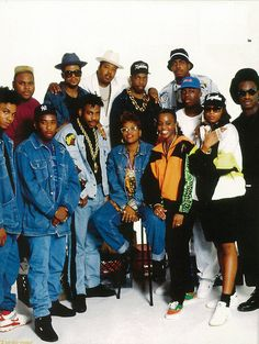Old School Hip-Hop: Run DMC, EPMD, Nikki D, Sid & B-Tonn, No Face, & BWP. New York City, 1990
