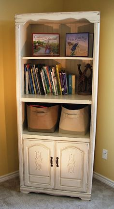 Facelift Furniture: DIY - Entertainment Center Upcycled into Toy Cabinet
