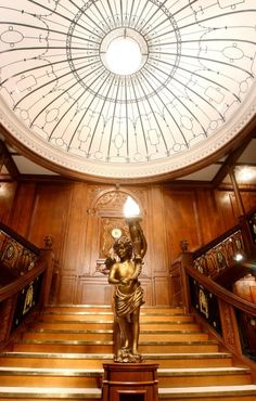 Titanic Grand Staircase on Display at Titanic Exhibit at Luxor