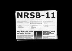 NRSB-11 Création d'un journal hebdomadaire scientifique et social, sur le monde de demain. Travail micro-typographique et gestion des styles GREP.