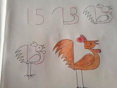 Kids friendly drawings using numbers as a base via Stylish Eve magazine Love Drawings, Animal Drawings, Easy Drawings, Number Drawing, Number Art, Drawing Lessons, Art Lessons, Drawing For Kids, Art For Kids