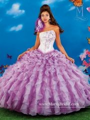 Wholesale new sweet 15 dress white and lavender beaded organza quinceanera ball…