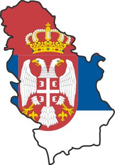 Serbian flag map