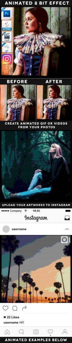 DOWNLOAD: goo.gl/ZQBcYb 10 Animated Instagram Actions PackWith these powerful actions you can create awesome instagram videos, animated gif files or static jpg. images. Save tons of tim...