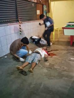 R12 Noticias: Homem é executado com um tiro no peito enquanto bebia em bar