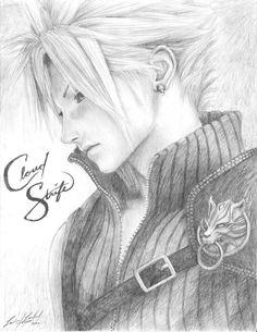 Cloud Sketch by ~friedChicken365 - Final Fantasy VII