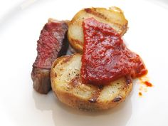 Secreto ibérico con verdura asada