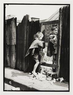 Children in Sydney slums, mainly Surry Hills, Woolloomooloo, Redfern, 1949 by…