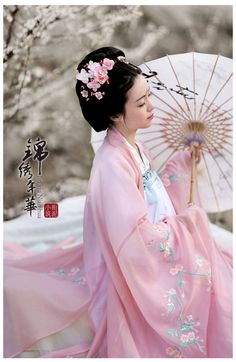 Traditional Chinese fashion in tang dynasty style by 衔泥小筑.