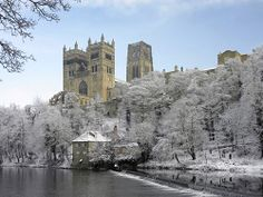 ~ Durham Cathedral in winter ~ northeast England ~ Norman castle built in 1093 ~ delightful ~ England ~ UK ~