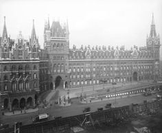St Pancras Station + hotel, London, 1925.  Is there a more emphatic statement of confidence anywhere than in British railway architecture?