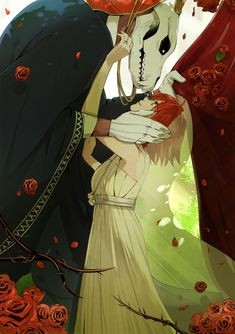 Elias Ainsworth and Chise Hatori. The Ancient Magus' Bride Mahou Tsukai no Yume Mago Anime, Manga Art, Anime Art, Elias Ainsworth, Chise Hatori, Tamako Love Story, The Ancient Magus Bride, Image Manga, Estilo Anime