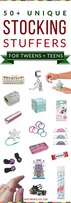 Best Stocking Stuffers For Tweens and Teens | Unique & Fun Gift Ideas For Your Kids' Stockings | get the full list of over 200 ideas for kids of all ages and stages from babies to teens at whatmomslove.com