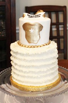 Gold Baby Shower Cake