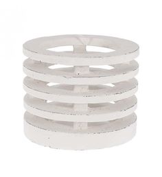 CERAMIC CANDLE HOLDER IN WHITE COLOR 15X15X12_5
