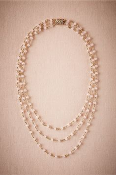 Rosebud Necklace in Shoes & Accessories Jewelry Necklaces at BHLDN
