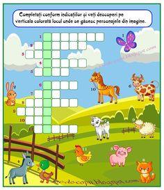 Joc de copii: Locul ascuns Preschool Learning, Kindergarten Math, Math For Kids, Crafts For Kids, Romanian Language, School Frame, Math School, Teacher Supplies, Baby Love
