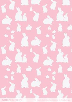FabVinyl Pink Bunny And Babies Backdrop has too many bunnies for Easter portraits, parties, and rabbit events. Easter Backdrops, Paper Animals, Easter Stuff, Photography Backdrops, Vector Pattern, Rabbits, Bunnies, Frames, Backgrounds