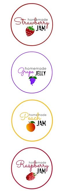 Homemade Jam Labels Free Printables