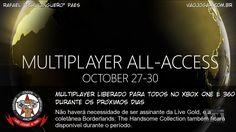 Multiplayer online e Borderlands de graça para todos até o fim de semana.  #XboxLive #XboxOne #Xbox360 #Borderlands