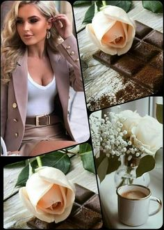 Gold Wallpaper Background, Pretty Phone Wallpaper, Wallpaper Backgrounds, Good Morning Coffee, Good Morning Quotes, Collages, Sound Film, Flower Collage, Meli Melo