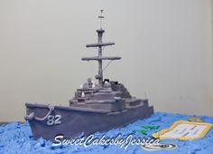Military ship, cake, US Navy cake