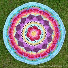 passo a passo como fazer tapete mandala de croche