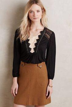 4056d1fc7cb9 Nimah Lace Blouse - anthropologie.com Beautiful neckline! Outfits 2016
