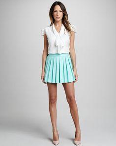 Leah Pleated Skirt at CUSP.