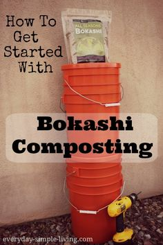 Bokashi!  The easiest way to compost EVERYTHING inside your house without any smell!