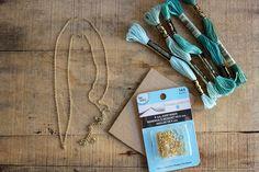 supplies// DIY tassel necklace on aliceandlois.com