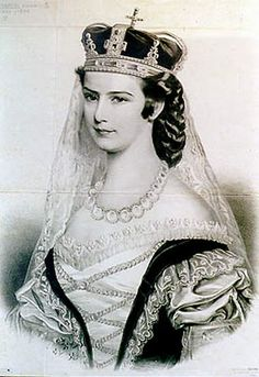 """Sisi, queen of Hungary. """"It is less well known that she wrote her name with only one """"S"""": Sisi not Sissy"""" As told by Ludwig Merkle"""