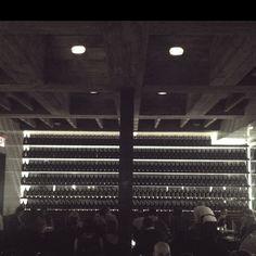 Backlit prohibition bottles. Cool.