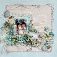several gorgeous layouts by Maiko Kosugi using Prima in this post (#scrapbooking) by clo.oliveira.167