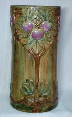 Weller Pottery Baldin Umbrella Stand RARE Gloss Glaze Outstanding | eBay
