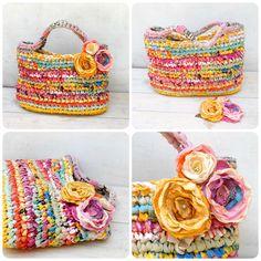 Crocheted Rag Bag {1} | by osnat.ganor