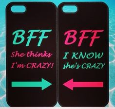 Best Friends BFF in Pairs for iphone 5 case, iphone 4 case, ipod ipod note Samsung Samsung galaxy blackberry on Wanelo