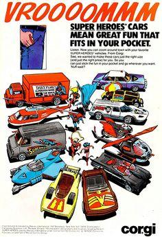 Vintage advertisement for the Corgi Super Heroes range... | TGR Worzel Rides Again
