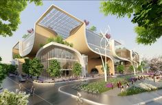 Wooden Orchids by Vincent Callebaut makes shopping sustainable in China | Inhabitat - Sustainable Design Innovation, Eco Architecture, Green Building
