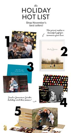 Five holiday photo cards and gifts our favorite people (Y-O-U) are currently crushing on. #ChristmasCards #GiftIdeas