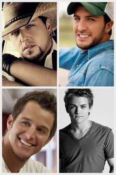 Jason Alden , Luke Bryan , Easton Corbin & Hunter Hayes..... This is awesome The four best singers in country music today.