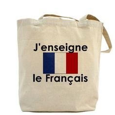 French Teacher tote bag as seen on The Today Show!  They featured this bag as a great teacher gift.  Scarebaby design also offers tote bags for Spanish, Norwegian and German teachers.