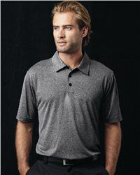 Adidas - Golf ClimaLite Heathered Polo - A163 is just what you need on your golf course. Featuring a loose and graceful drape, our Polo is an excellent choice for your golf time. Made of 100%polyester, it will certainly bring you a soft sense of touch while make your motion easy and comfortable. An embroidered adidas performance logo on back yolk is available for absolute assurance of genuine quality.